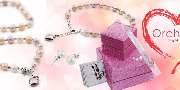 Darček k Valentínu - šperky z perál Orchira