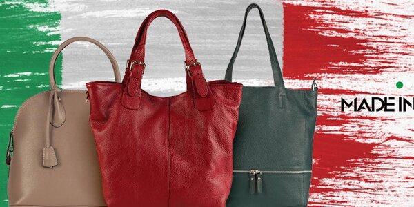 Elegantné kožené kabelky Made in Italia