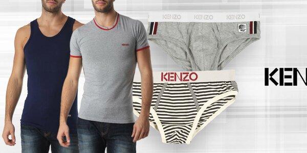 Pohodlná pánska spodná bielizeň, tričká a tielka Kenzo
