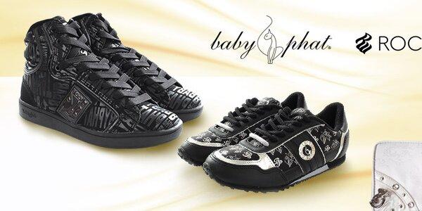 Dámske módne topánky a doplnky Baby Phat a Rocawear