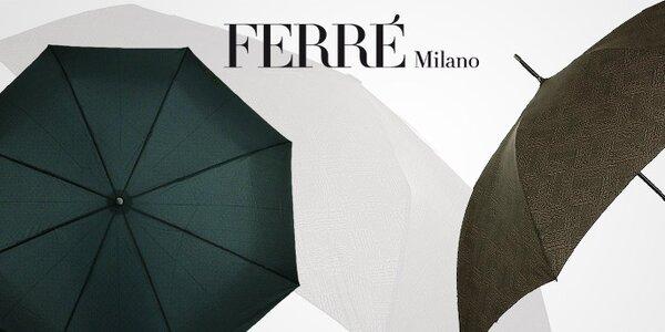 Nadčasový štýl pánskych dáždnikov Ferré Milano