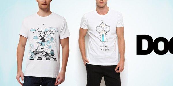 Nápadité pánske tričká s hravými potlačami Dogo