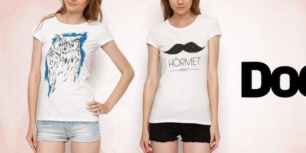 Nápadité dámske tričká s hravými potlačami Dogo