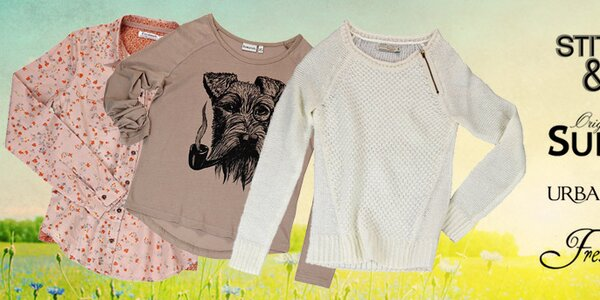 Štýlové dámske streetové oblečenie Urban Surface, Sublevel, Stitch & Soul a Fresh Made