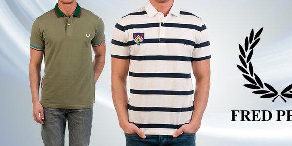 Kvalitné pánske póla, tričká a košele Fred Perry