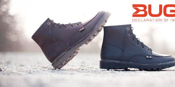 Kvalitné pánske topánky z pravej kože Buggy