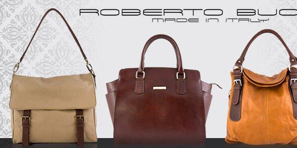 Kvalitné talianske kožené kabelky Roberto Buono