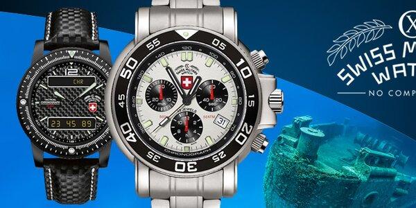 Luxusné švajčiarske pánske hodinky Swiss Military