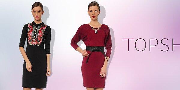 Elegantné spoločenské šaty pre dámy TopShop