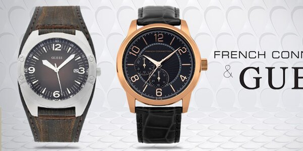 Pánske hodinky módnych značiek French Connection a Guess