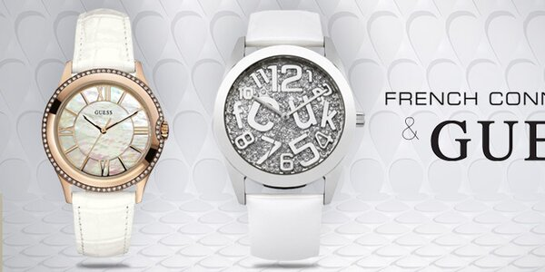 Dámske hodinky módnych značiek French Connection a Guess