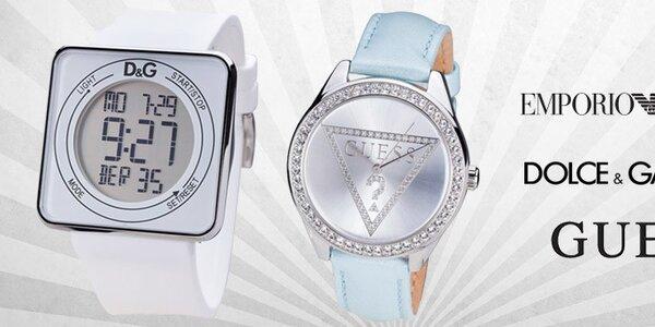 Tik tak, tik tak - značkové dámske hodinky Emporio Armani, Guess, Dolce & Gabbana, The One