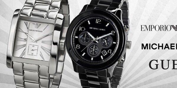 Tik tak, tik tak - značkové pánske hodinky Emporio Armani, Guess, Michael Kors, Hugo Boss, Dolce & Gabbana, The One