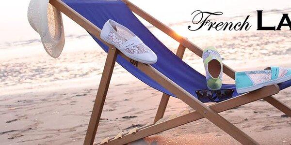 Štýlové francúzske tenisky French Lab - čipka aj nádherné farby
