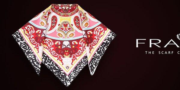 Farebné dámske šatky obľúbenej značky Fraas
