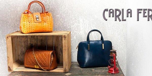 Elegantné talianske kožené kabelky Carla Ferreri
