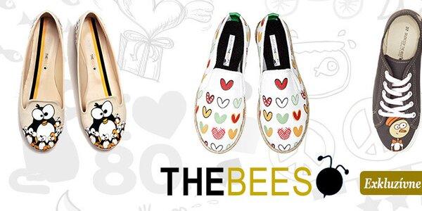 Dámska obuv s vtipnými potlačami The Bees