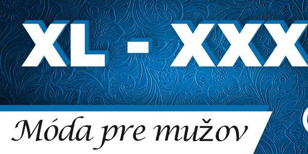 XL-XXXL móda pre mužov - skladom