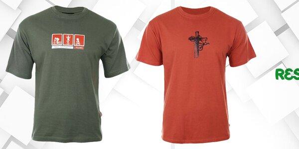Voľnočasové pánske tričká s hravou potlačou Respiro