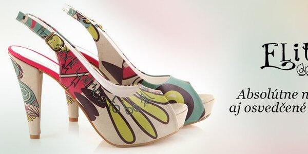 Osobité farebné lodičky a listové kabelky Elite Goby
