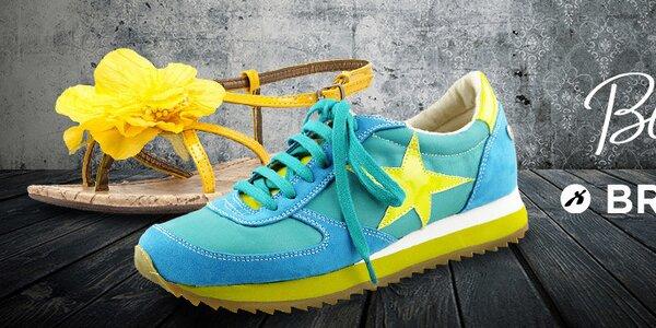 Uvoľnené aj elegantné dámske topánočky plné farieb Bronx, Blink
