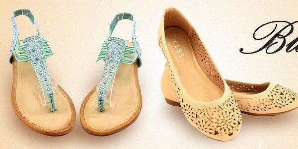 Dámske letné topánky, sandále a balerínky Bless