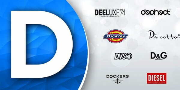 D - Diesel, Dolce & Gabbana, Dicotto,... skladom