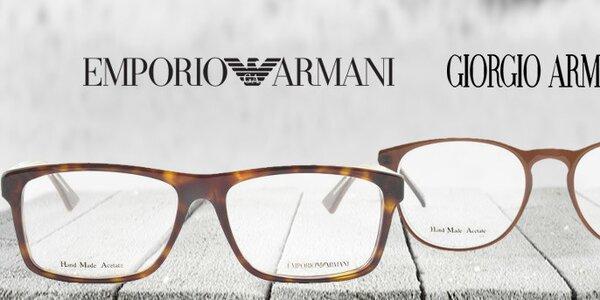 Štýlové okuliarové rámy Emporio Armani a Giorgio Armani
