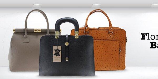 Sofistikované elegantné kožené kabelky Florence bags