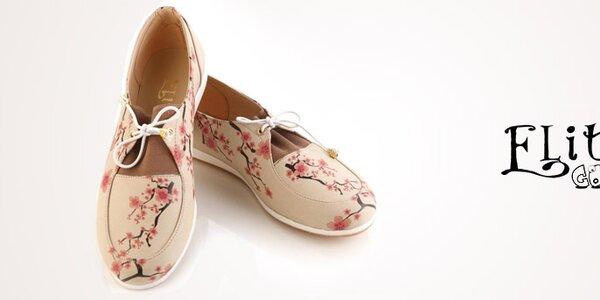Nevšedné jarné topánky s veselými potlačami Elite Goby