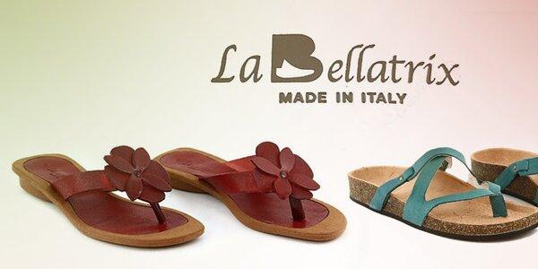 Dámske kožené letné šľapky a žabky La Bellatrix