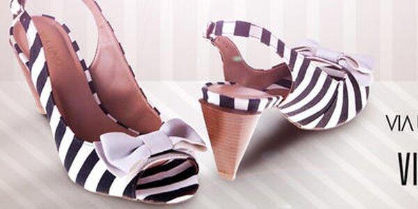 Elegantné dámske sandále, črievičky aj balerínky Via Uno, Vizzano