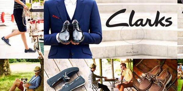 Pánske topánky Clarks - kvalitné kožené topánky z Anglicka
