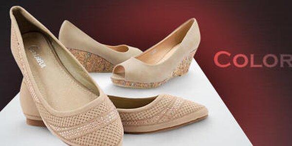 Štýlové letné topánočky pre dámy a slečny Colorful