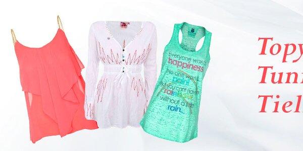 Tielka, topy, tuniky - k letnému outfitu