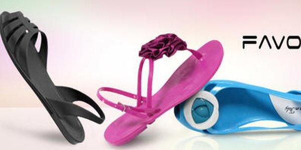 Veselé letné sandálky, žabky a balerínky Favolla