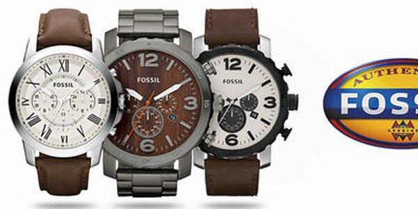 Dizajnové šperky a hodinky pre pánov Fossil
