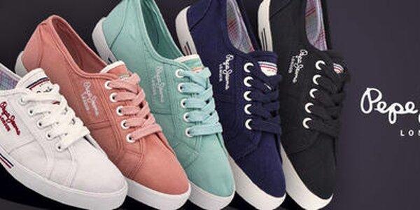 Dámske textilné tenisky a kožené sandále Pepe Jeans