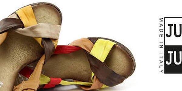 Dámske kožené letné topánky Julie Julie