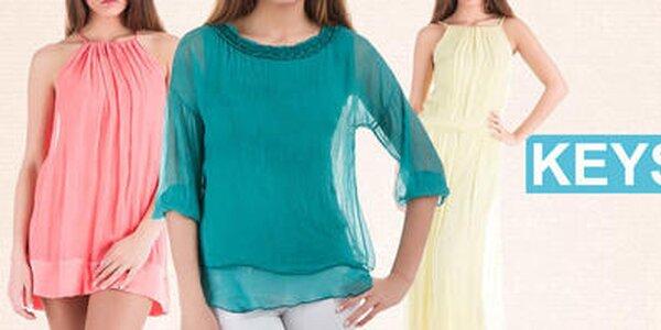 Zahaľte sa do hodvábu - farebná letná móda Keysha