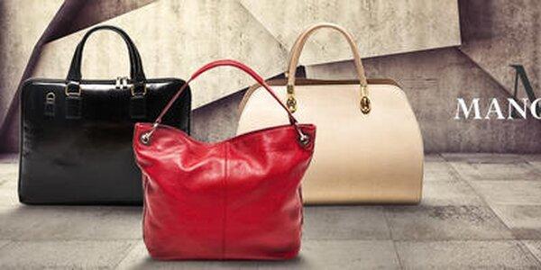 Dokonalá bodka k outfitu - kožené kabelky Mangotti