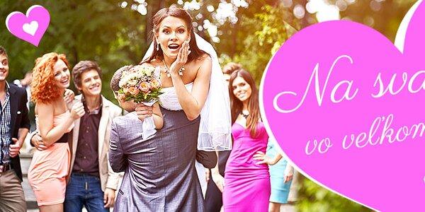 Na svadbu vo veľkom štýle dámy - Dodanie do 2 dní