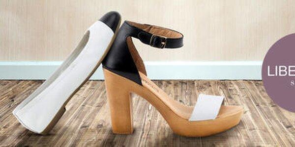 Letné kožené topánočky pre dámske nôžky Liberitae