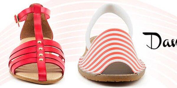 Daneris - šmrncovné kožené sandále pre ženy