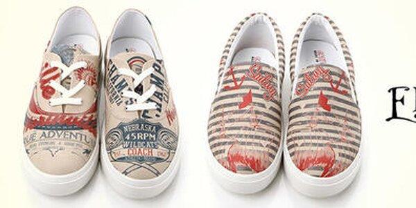 Originálne pánske topánky s hravými potlačami Elite Goby