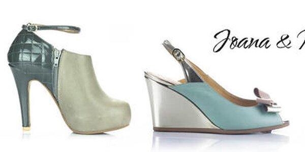 Atraktívna kožená obuv pre dámy Joana and Paola