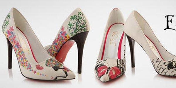 Farebné dámske topánky plné sviežich potlačí Elite Goby