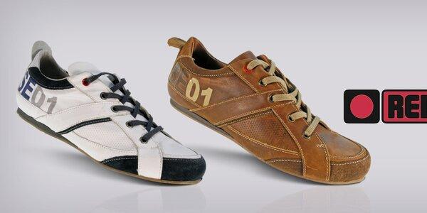 Pekné pánske topánky z kože Red Hot