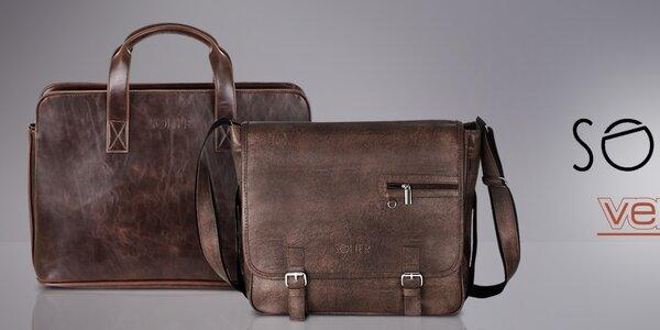 Pánske tašky do práce aj na voľný čas Solier, Verso