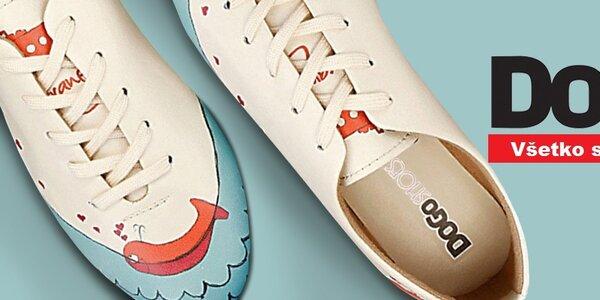 Veselé dámske topánky s obrázkami Dogo